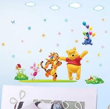 cartoon disney wall decal baby room wall decor happy winnie the pooh nursery wall