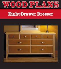Eight Drawer Dresser Woodworking Plan