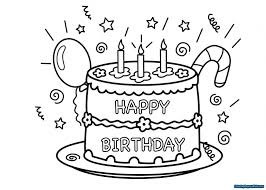 Birthday Cake Coloring Page Coloring Pages For Kids