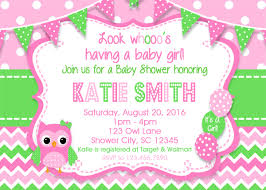 baby girl invite owl girl pink shower invitation girl baby shower invitation baby shower invitations owl baby shower chevron owl invitations