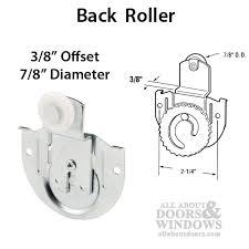 7 8 wheel 3 8 offset acme 3100 back closet door roller