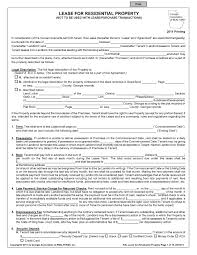 Residential Lease Agreement Template Free Download Blank Rental