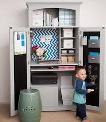 project organized home office armoire. Home Office Armoire Makeover Cute DIY Project Womanu0027s Day Organized