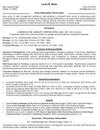 Retail Resume Description Retail Store Manager Job Description