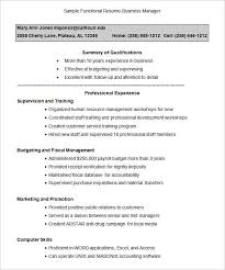 Template For Functional Resume Beauteous Functional Resume Templates Complete Guide Example