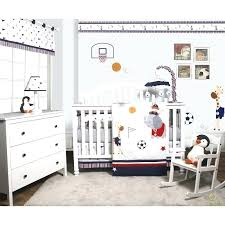 baby boy bed sets bee porter animal sports festival 6 piece nursery crib bedding set reviews
