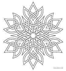 Snowflake Mandala Coloring Pages Download Free Jokingartcom