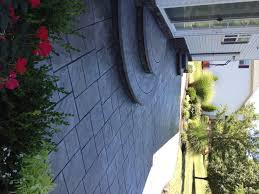 Stamped concrete patio with stairs Poured Concrete Stamped Concrete Patio W Radius Steps Pinterest Stamped Concrete Patio W Radius Steps Patio Steps Concrete