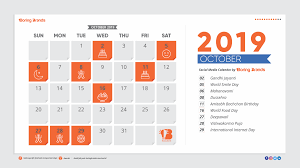 2019 October Calendar Boringbrands The Ultimate Social Media Calendar For Indian Market 2019