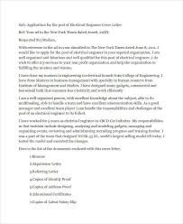 Electrical Engineer Cover Letter Application Letter For Electrical Engineering Job