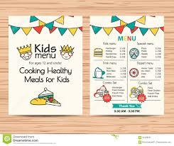 035 Children Menu Template Word Restaurant Free Download