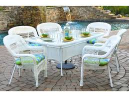 portside 7 piece dining set outdoor patio furniture classic design wicker tortuga outdoor traditional polyester durable