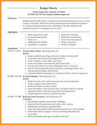 Courierjanitor Resume Samples Professional Janitor Sample School