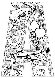 Small Picture Letter a coloring pages printable free ColoringStar