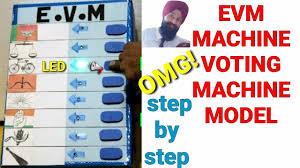 Voting Chart Maker How To Make Evm Machine Sst Working Model Working Voting Machine Working Project For School
