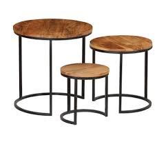 vidaxl coffee table set 3 pieces solid