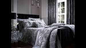 crushed velvet duvet quilt cover set bed linen double king size bedding silver