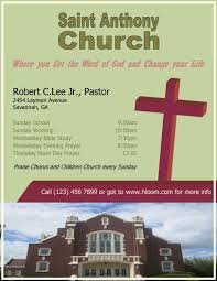 Flyer For 12 Free Flyers To Promote Church Events Download