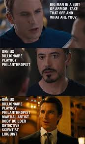 One of the reasons I think Iron Man is the best. : funny via Relatably.com