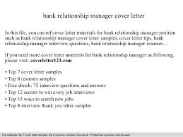 Bank Manager Interview Questions Relationship Manager Cover Letter Bank Relationship Manager Cover