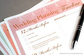 Printable Wedding Timeline Checklist Free Printable Wedding Planning Timeline Blog Botanical Paperworks