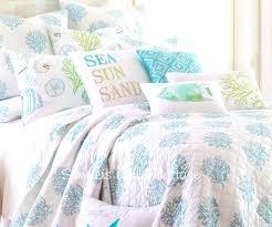 seaside themed duvet sets seaside style duvet covers seaside cottage sea glass blue c reef white