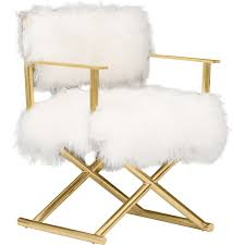 fluffy age chairs gigi mongolian fur chair gold dream mansion room and