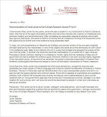 Sample Recommendation Letter Research Fellowship