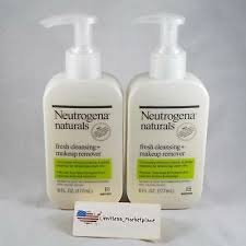2 neutrogena naturals fresh cleansing and makeup remover 6 fl oz each