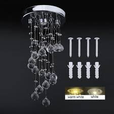crystal lamp ceiling light pendant flush chandelier fixture mount stair droplets 1 of 8only 2 available