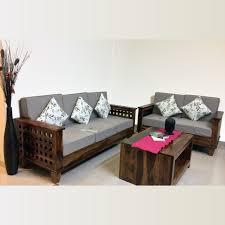 Four Square Wooden sofa Sofas Living Room