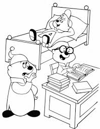 Alvin And The Chipmunks Coloring Pages Simon Chipmunks Coloring