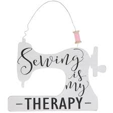 sewing is my therapy wood wall decor
