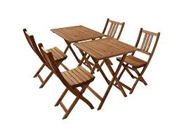 Sam Gartengruppe 1 Blossom 6tlg Akazienholz Tisch 4x Klappstuhl