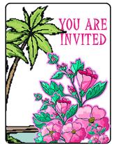 Luau Theme Party Free Printable Party Invitations Templates
