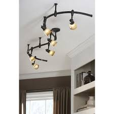 portfolio standard bronze decorative flexible track light with tea stained glass at lowe s canada find our selection of track lighting kits at the