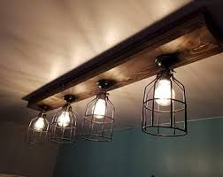 Rustic Farmhouse Decor - Ceiling light - Cage Light - Barn Light - Flush  Mount -