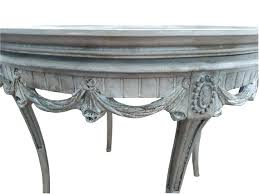 full size of vintage white medallion round accent table french carved xvi gray coffee shabby kitchen