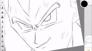 Comment Dessiner Vegeta Ssj Sur Ipad Dragon Ball Z Youtube