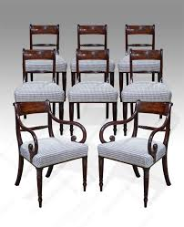 antique dining chairs lovely quality set of 8 regency gany dining chairs moulded figured head rails over horizontal reeded splats