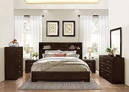 Amazon.com: Montana 6-PC Walnut Modern Wood Bedroom Set, King Bed ...