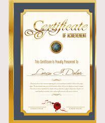 64 Printable Certificate Templates Psd Ai Vector Eps