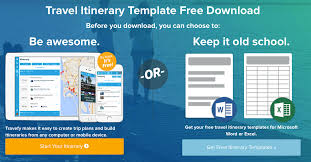 Travel Templates 9 Useful Travel Itinerary Templates That Are 100 Free
