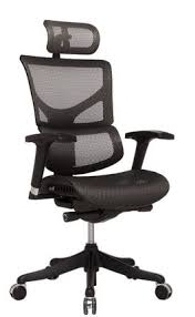 chair with headrest. shown with optional adjustable headrest in black chair