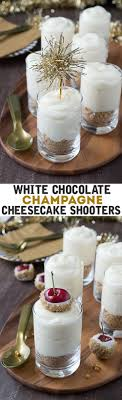 images fancy party ideas: make these fancy and easy white chocolate champagne cheesecake shooters for new years eve i
