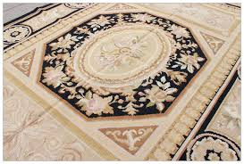 details about black beige 4x6 shabby french chic aubusson needlepoint area rug geometric wool