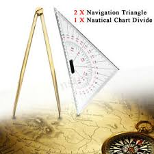 Details About 2x Triangular Protractor 300mm Nautical Chart Divider For Navigation Tools