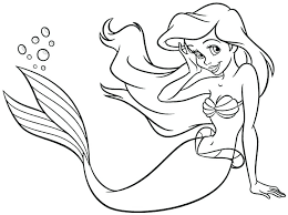 Little Mermaid Coloring Pages Free The Mermaid Coloring Pages The