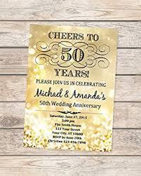 50th golden wedding anniversary invitation gold sparkle 50th anniversary invitation gold bokeh anniversary invite