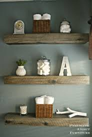 How To Create a Weathered Barnwood Look With This Inexpensive Substitute.  Rustic Wood Floating ShelvesWhite ...